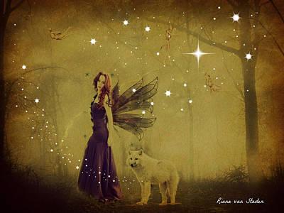 Digital Art - Bush Fairy by Riana Van Staden