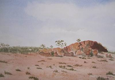 Bush Land Australia Art Print by Elvira Ingram