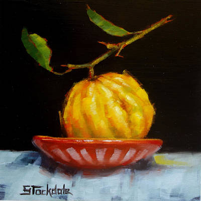 Painting - Bush Lemon In Black by Margaret Stockdale