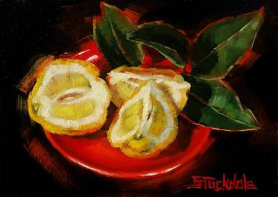 Painting - Bush Lemon Sliced by Margaret Stockdale