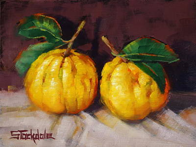 Painting - Bush Lemons by Margaret Stockdale