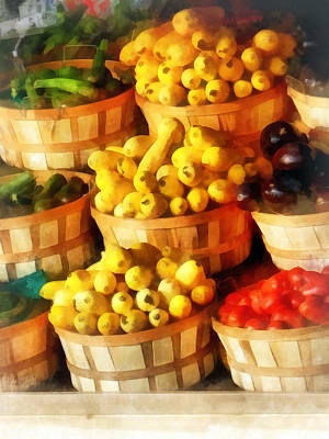 Vegetable Stand Photograph - Bushels Of Flavor by Susan Savad