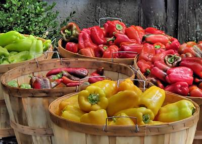 Photograph - Bushels Of Peppers by Janice Drew