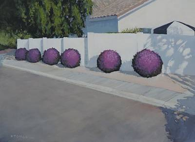 Painting - Bushes On Amber Ridge Way by Bill Tomsa