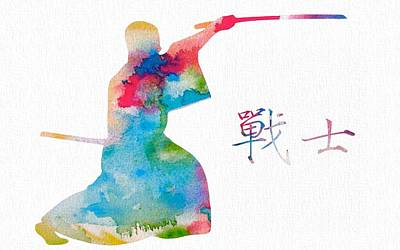 Chinese Man Painting - Bushi by Dan Sproul