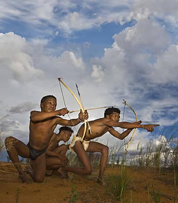 Bushman Photograph - Bushmen - Desert Hunters 03 by Basie Van Zyl