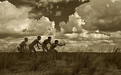 Bushman Photograph - Bushmen - Desert Hunters 05 by Basie Van Zyl