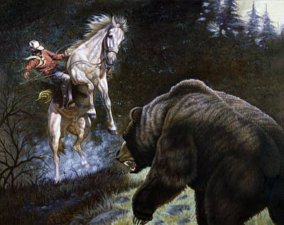 Brown Bear Painting - Bushwacked by Gregory Perillo