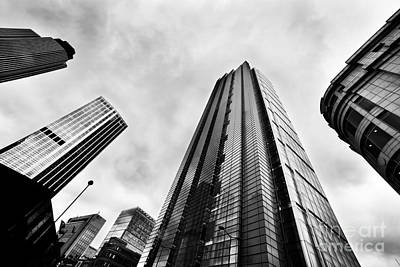 Angle Photograph - Business Architecture Skyscrapers In London Uk by Michal Bednarek