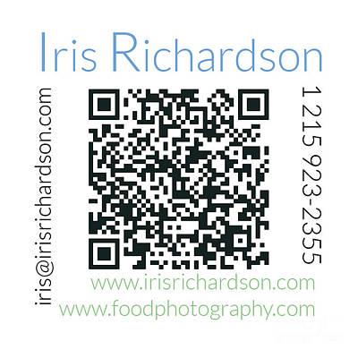 Business Card Photograph - Business Card Back by Iris Richardson