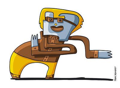 Cartoon Drawing - Business Dancer Doodle Character by Frank Ramspott