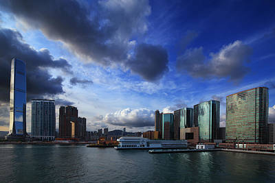 Art Print featuring the photograph Business Harbour by Afrison Ma