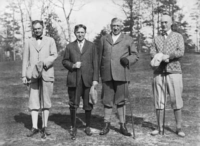Photograph - Business Leaders Play Golf by Underwood Archives
