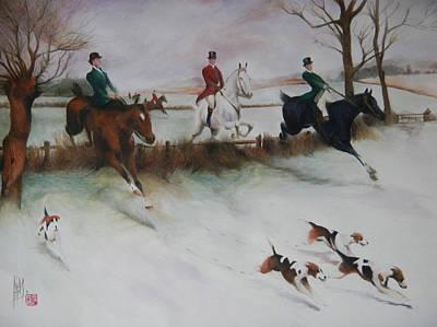 Painting - Business Like Trio  by Alan Kirkland-Roath
