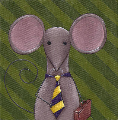 Business Mouse Art Print by Christy Beckwith
