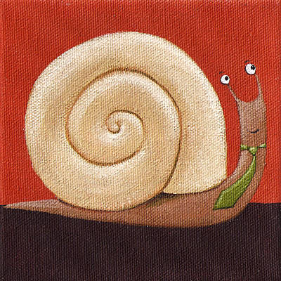 Animal Watercolors Juan Bosco - Business Snail Painting by Christy Beckwith