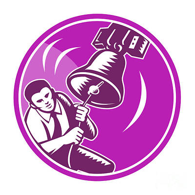 Digital Art - Businessman Ringing Liberty Bell by Aloysius Patrimonio