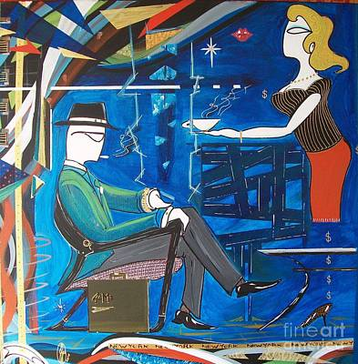 Painting - Businessman Sitting In Chair by John Lyes