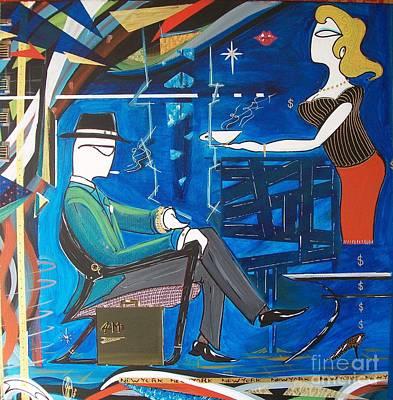 Businessman Sitting In Chair Art Print