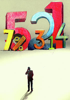 Accountancy Wall Art - Photograph - Businessman Using Mobile Phone In Front by Ikon Ikon Images