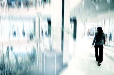 Reflecting Photograph - Businesswoman In Rush by Michal Bednarek