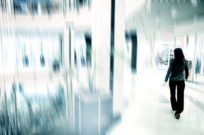Finance Photograph - Businesswoman In Rush by Michal Bednarek