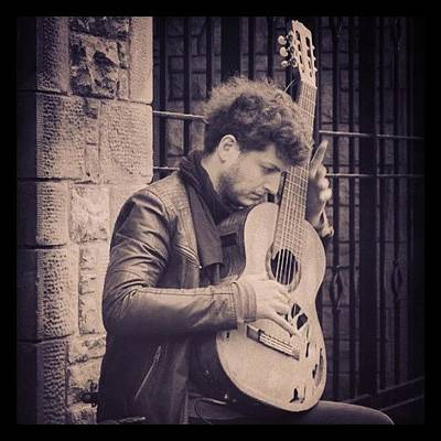 Classical Photograph - #busker #guitarist #guitar #classical by Siobhan Macrae