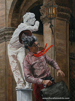 Painting - Buskers In Firenze Italy by Kelly Borsheim