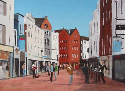 Busking On Grafton Street Art Print