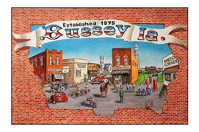 July 4th Painting - Bussey Mural by Todd Spaur