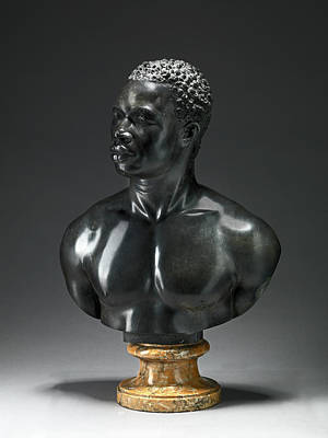 Bust Of A Man Bust Reputedly Of Psyche, An Athlete Art Print