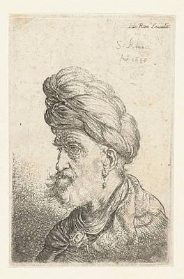 Bust Of A Man With Turban, Salomon Koninck Art Print