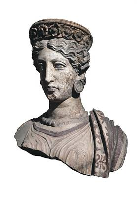 Ceramics Photograph - Bust Of A Woman. 4th C. Bc by Everett