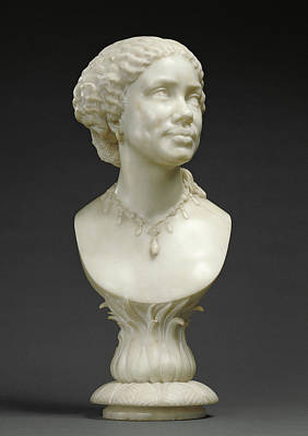 African Women Drawing - Bust Of An African Woman Based On An Image Of Mary Seacole by Litz Collection