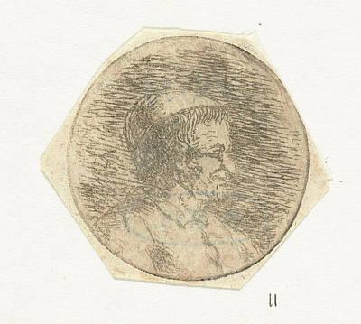 Christina Drawing - Bust Of An Unknown Man, Christina Chalon by Artokoloro
