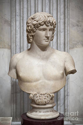 Bust Of Antinous Art Print by Roberto Morgenthaler