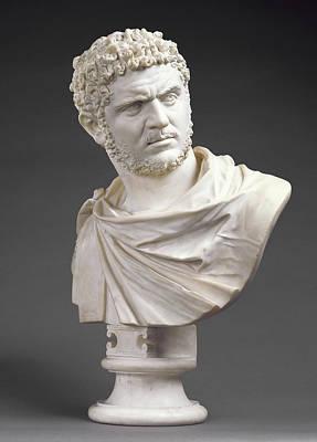 Bust Of Emperor Caracalla Born 188 Art Print by Litz Collection