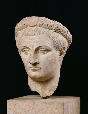 Roman Ancient Sculpture - Bust Of Emperor Claudius by Anonymous