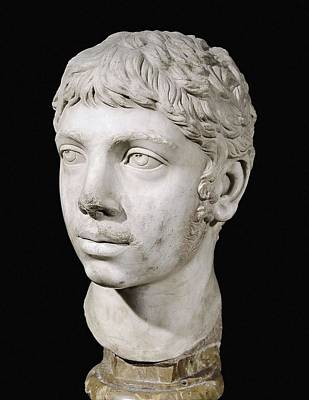 Statue Portrait Photograph - Bust Of Heliogabalus. 3rd C. Roman Art by Everett
