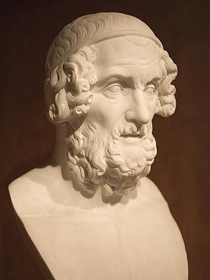 Photograph - Bust Of Homer by Mark Greenberg