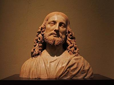 Photograph - Bust Of Jesus Christ At Mfa by Michael Saunders