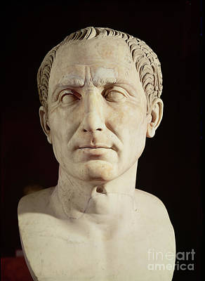 Roman Ancient Sculpture - Bust Of Julius Caesar by Anonymous