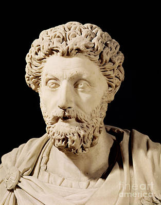 Roman Ancient Sculpture - Bust Of Marcus Aurelius by Anonymous