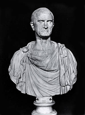 Ancient Rome Photograph - Bust Of Marcus Licinius Crassus by Roman