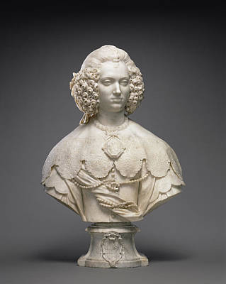 Bust Of Maria Cerri Capranica Attributed To Alessandro Print by Litz Collection
