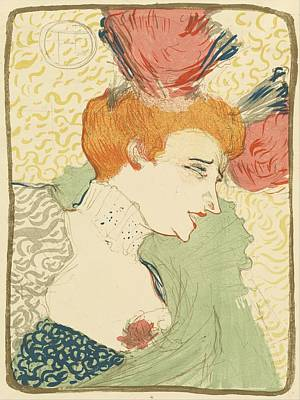 Lender Painting - Bust Of Mlle. Marcelle Lender by Toulouse-Lautrec