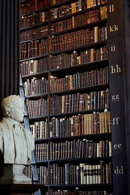 Photograph - Bust Of Samuel Kyle - Trinity Library Long Room by Nadalyn Larsen