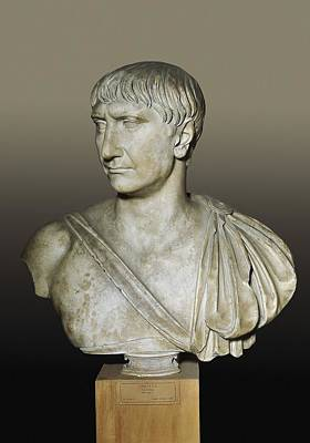 Statue Portrait Photograph - Bust Of The Emperor Trajan. 2nd C by Everett