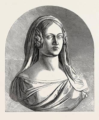 Bust Of The Late Duchess Of Kent Art Print