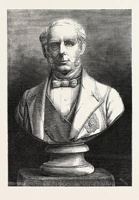 Bust Of The Right Hon. Sir J. Pakington Art Print by English School